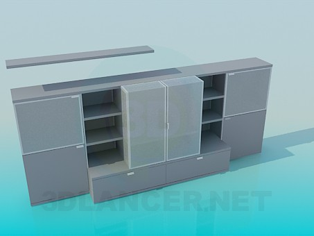3d modeling Low cabinets model free download