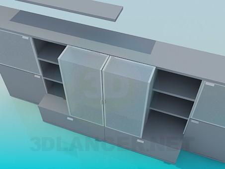 modelo 3D Gabinetes de baja - escuchar