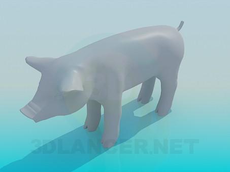 3d modeling Pig model free download