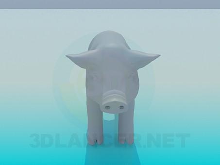 3d model Pig - preview