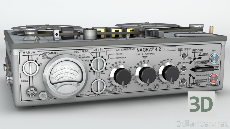descarga gratuita de 3D modelado modelo Nagra 4.2