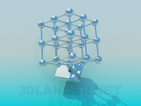 descarga gratuita de 3D modelado modelo red molecular