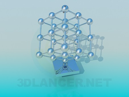 3d model Molecular grid - preview