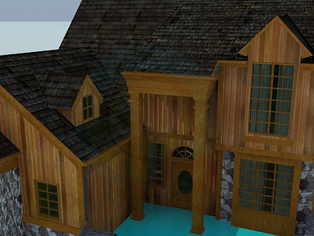 3d model Wooden House - preview