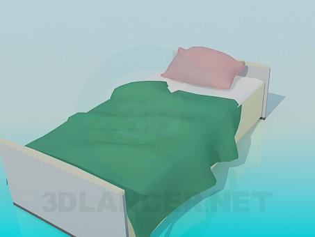 modelo 3D Cama individual - escuchar