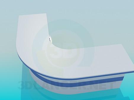 3d моделирование Угловая стойка администратора модель скачать бесплатно