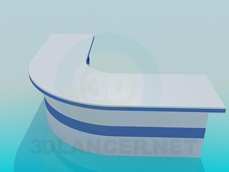 3d модель Угловая стойка администратора – превью