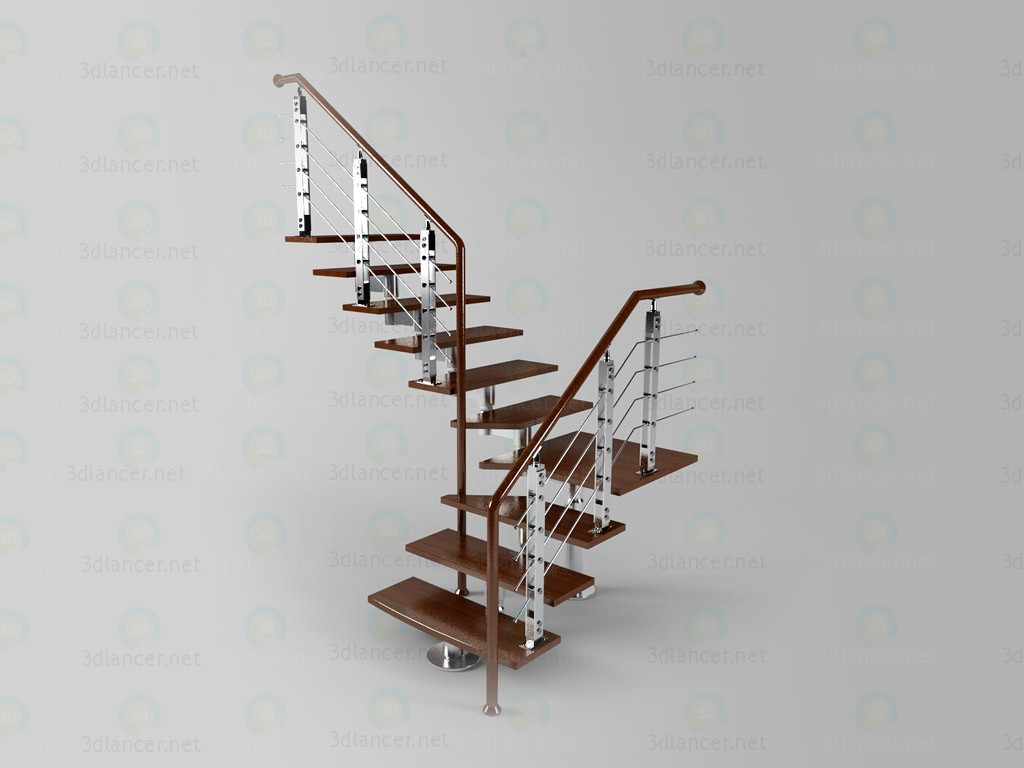 3d model Staircase China - preview