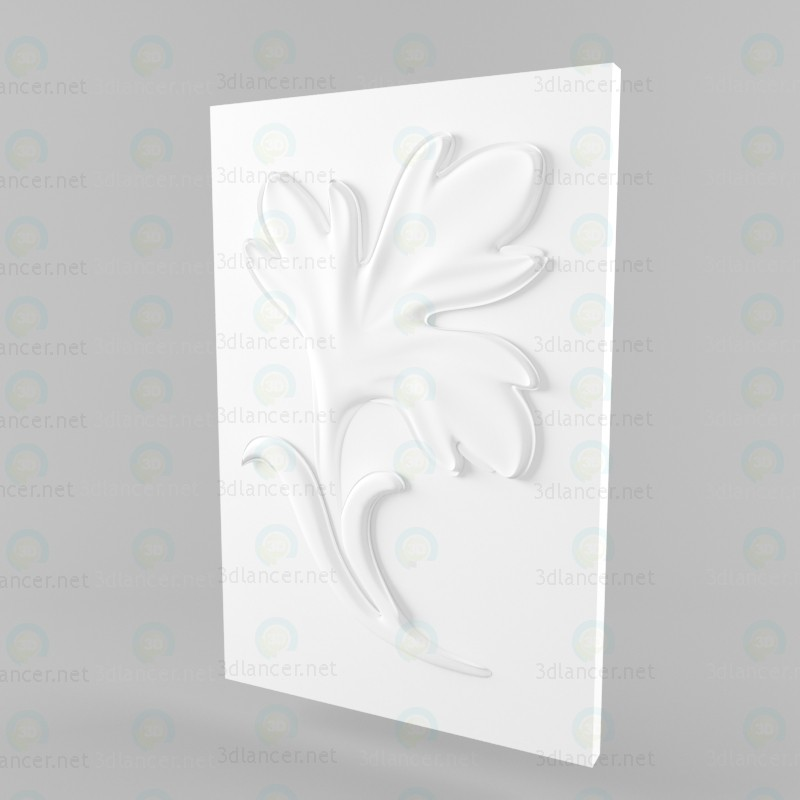 3d Rosette gypsum model buy - render