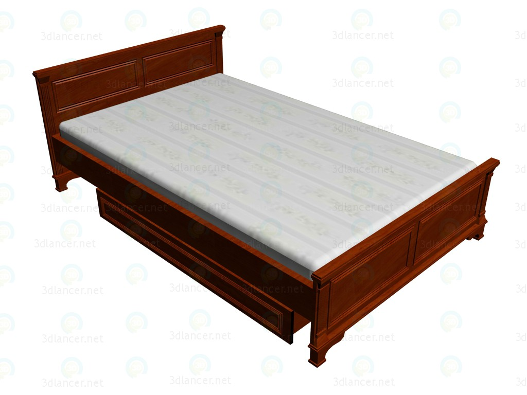 3d model Cama doble 140x220 - vista previa
