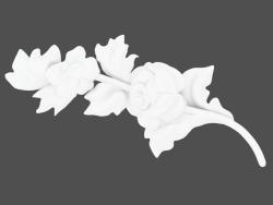 Fleur avec des feuilles