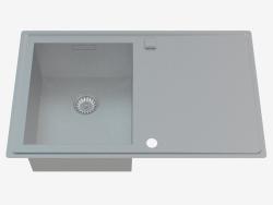 Fregadero, 1 recipiente con un ala para secar - Sinope satinado (ZDS 011P)