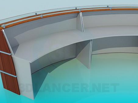 3d model Stand-Receptionist - preview