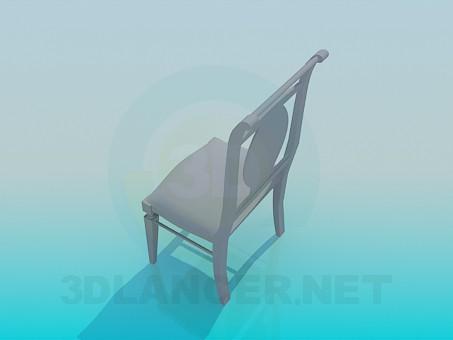 modelo 3D Silla con estilo - escuchar