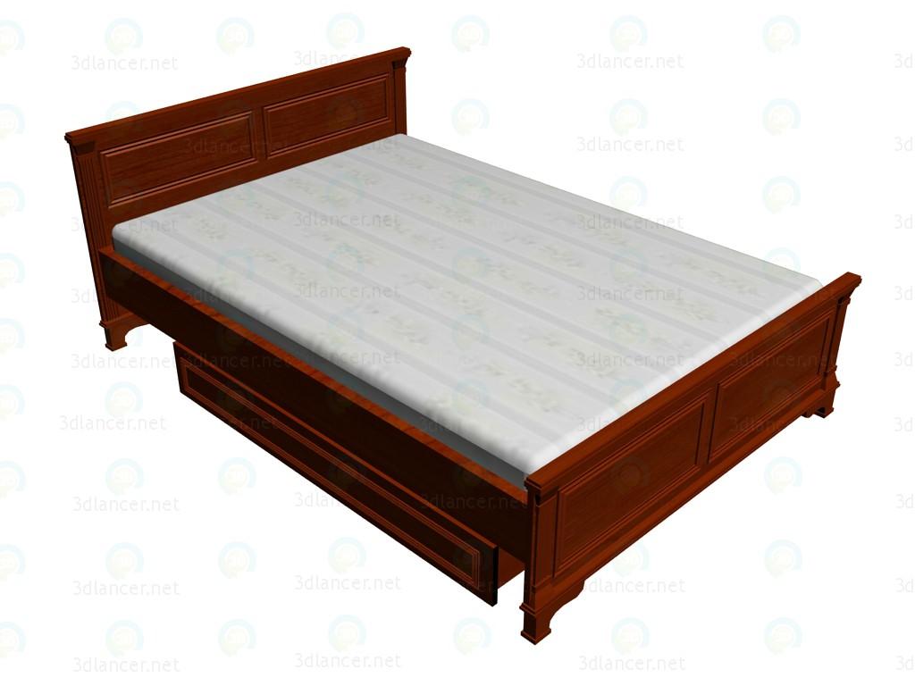 3d модель Кровать 2-местная 140х200 VOX – превью