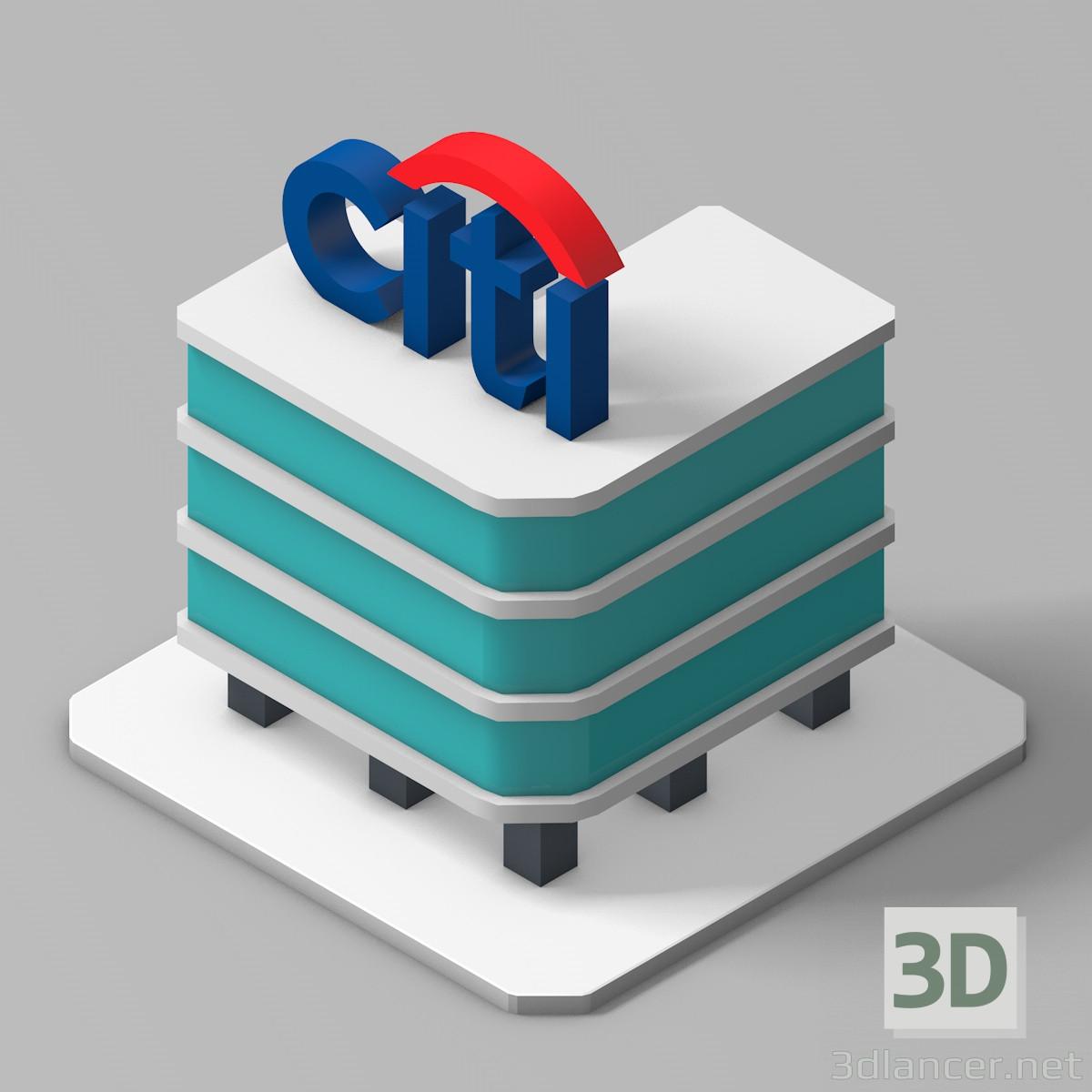 3d Model Citibank Building Id 17912