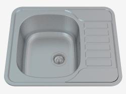 Lavello, 1 vasca con scolapiatti - satin Soul (ZEO 011A)