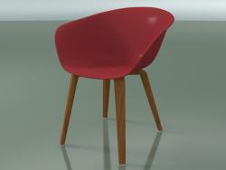 Armchair 4203 (4 wooden legs, teak effect, PP0003)