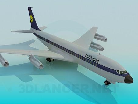 modelo 3D Boing-707 - escuchar