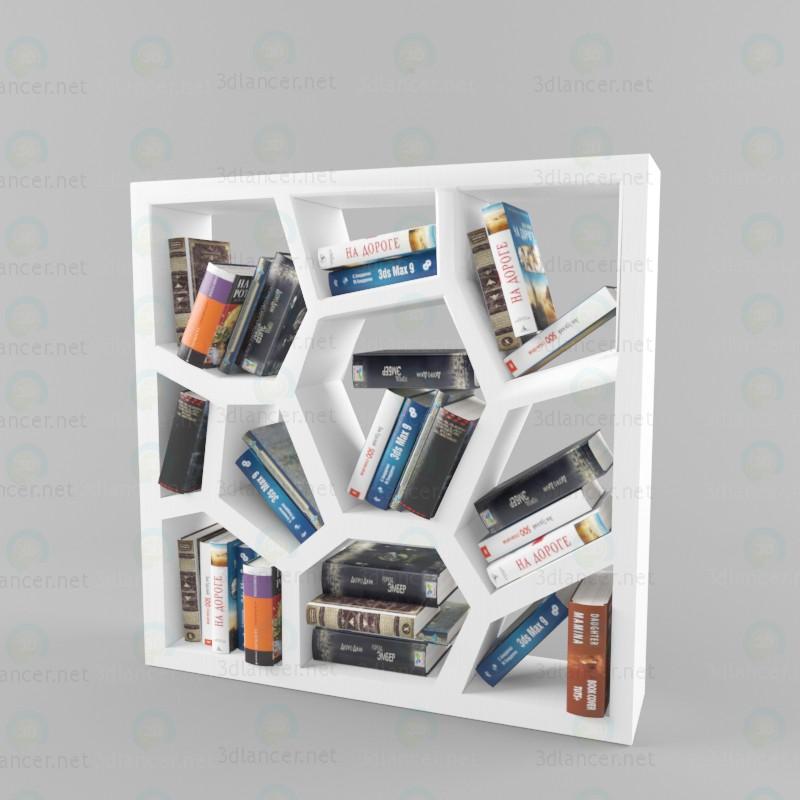 3d Дизайнерська книжкова шафа модель купити - зображення