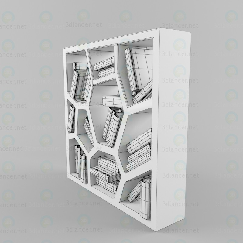 3d Design bookcase model buy - render