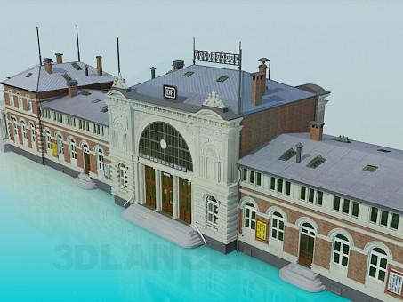 3d модель Здание ЖД вокзала – превью