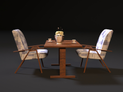 USSR table and chair