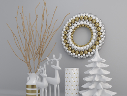 Festive New Year decorative set