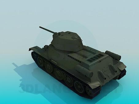 3d model T-34 - preview