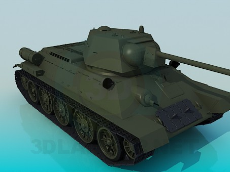 modelo 3D T-34 - escuchar