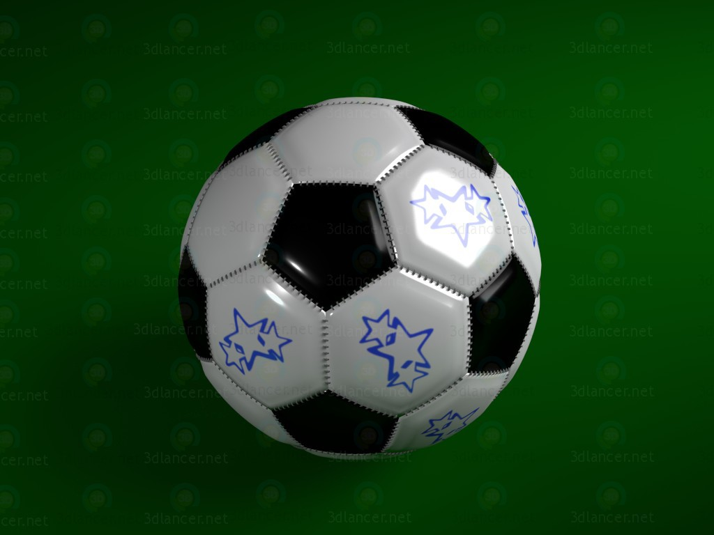 modèle 3D Ballon de football - preview