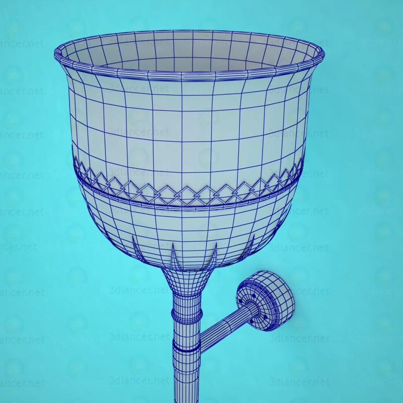 3d Светильник настенный модель купить - ракурс