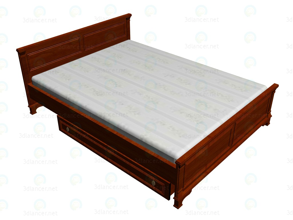 3d model Double bed 160x220 - preview