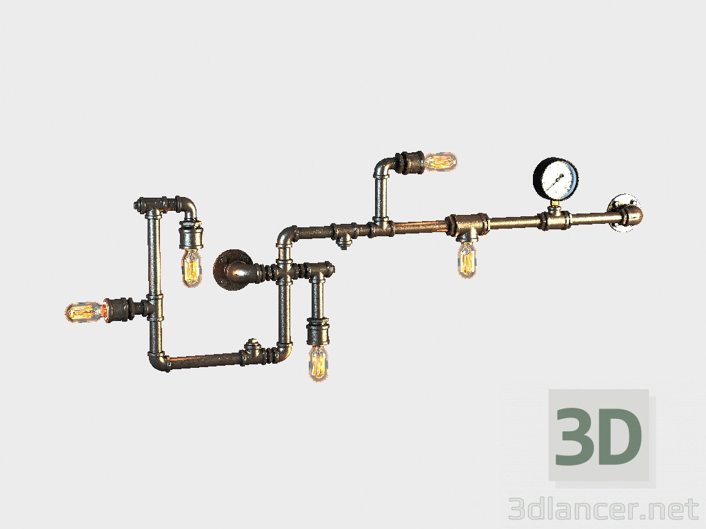 3d model Sconce TUBO SCONCE (SN047-5) - vista previa