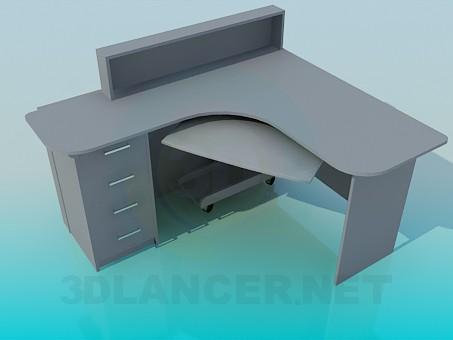 3d моделирование Стол офисный модель скачать бесплатно