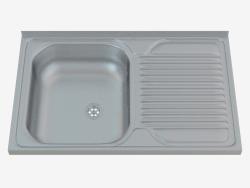 Lavabo, 1 recipiente con escurridor - Tango satinado (ZM6 011P)