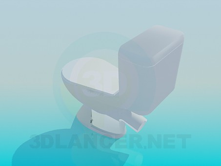 3d model Toilet bowl - preview