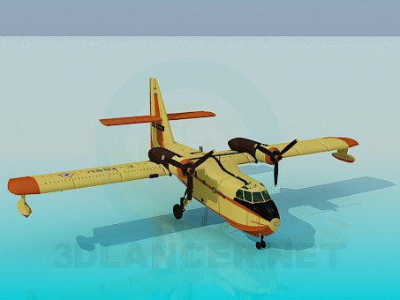 3d modeling Canadair model free download