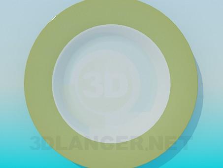 modelo 3D placa de - escuchar