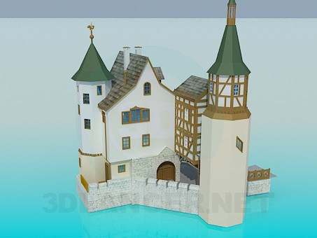 3d modeling Castle model free download