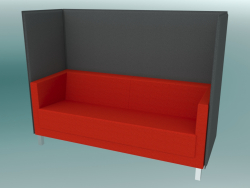 Three-seater sofa with partitions, on legs (VL3 HW)