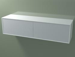 Caja doble (8AUFВA02, Glacier White C01, HPL P03, L 144, P 36, H 36 cm)