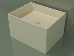 Lavatório de bancada (01UN32301, Bone C39, L 60, P 48, H 36 cm)