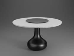 Dining table (White oak veneer) 3d model Studio-Mebel