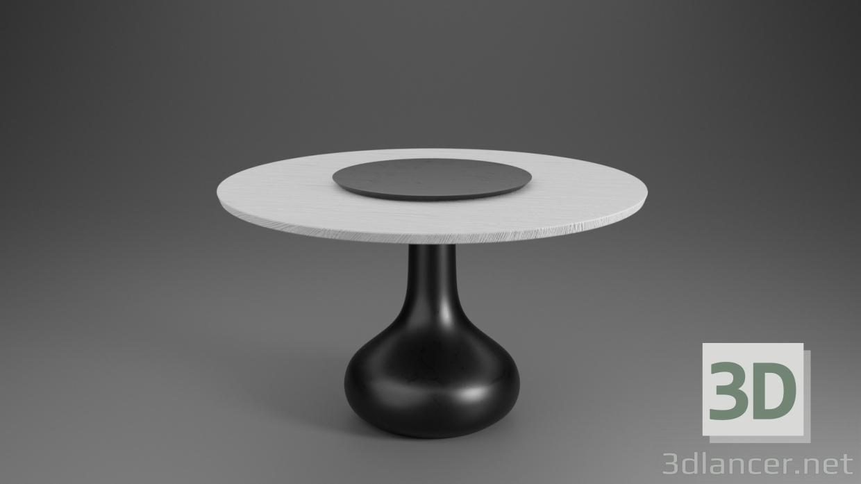 3d Dining table (White oak veneer) 3d model Studio-Mebel model buy - render