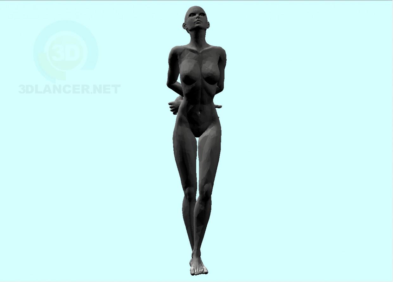 3d модель Жінка-2 – превью