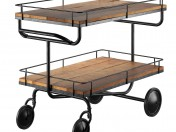 bar trolley Restoration Hardware