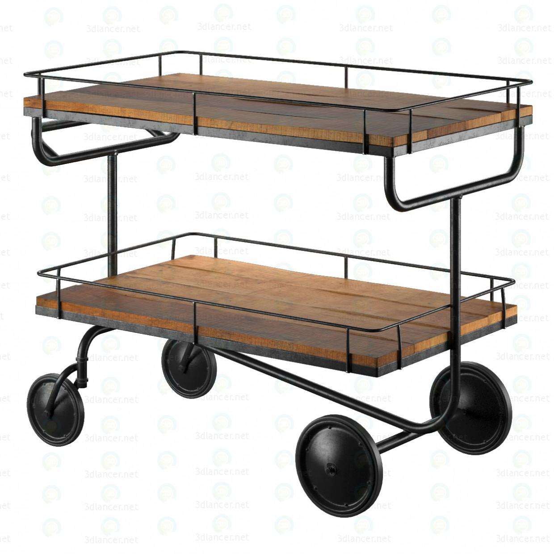 3d  Bar trolley Restoration Hardware  model buy - render