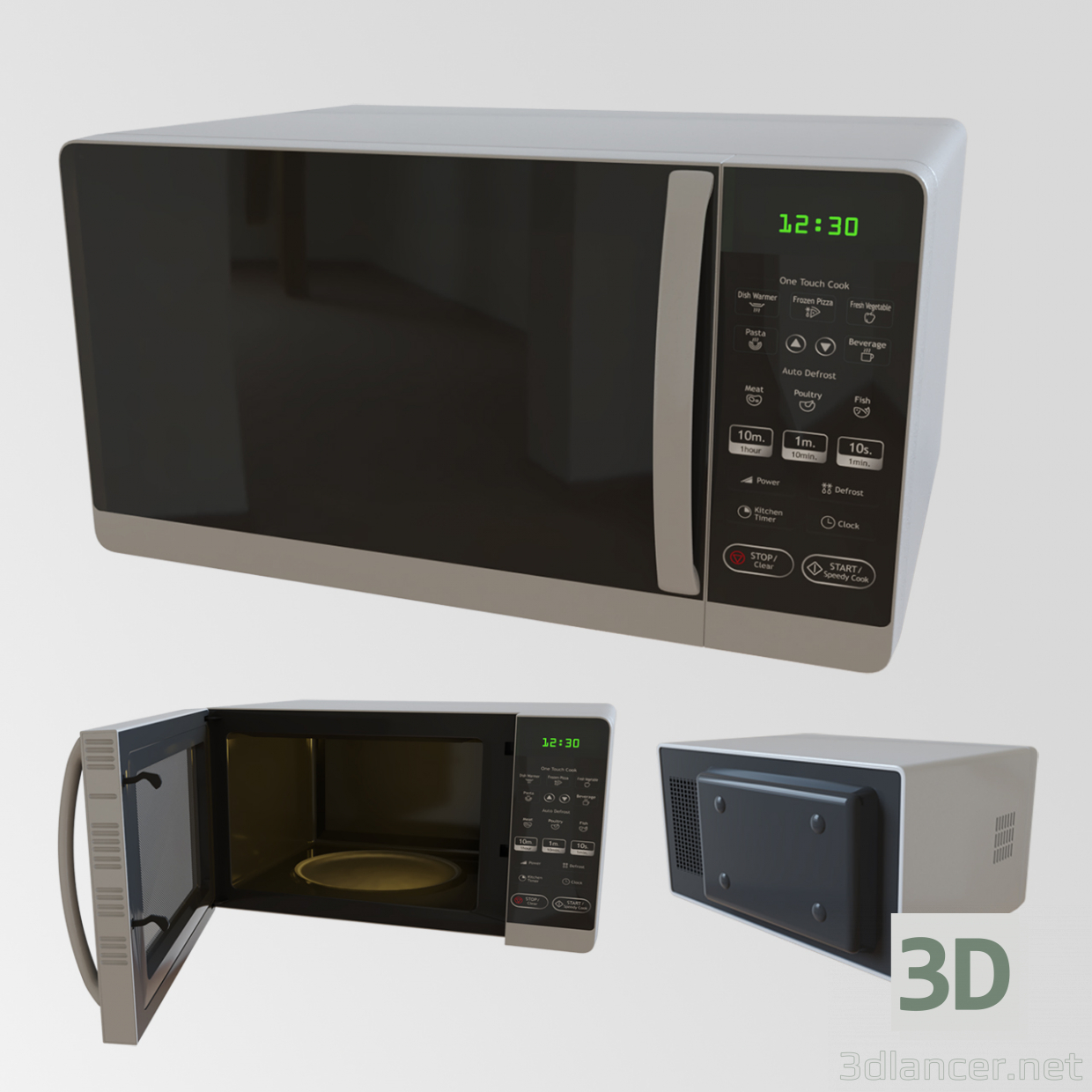 3D-Model Microwave oven