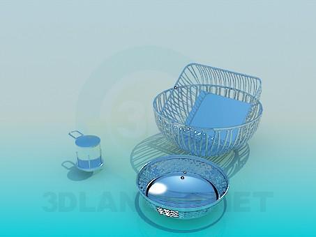 3d модель Посуда из нержавейки – превью